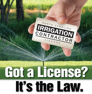Irrigation contractor license