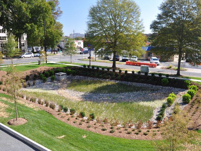 Metrolina landscape duke endowment for Design of retention pond